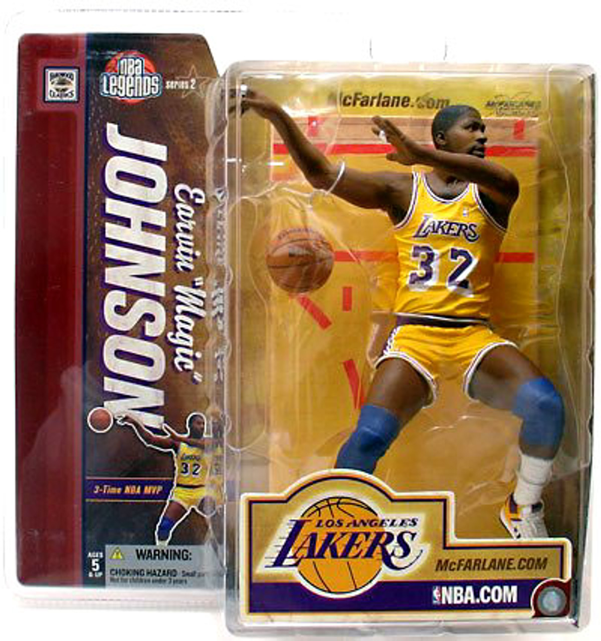 McFarlane Toys NBA Los Angeles Lakers Sports Picks Legends Series 2 Magic Johnson Action Figure [Yellow Jersey]