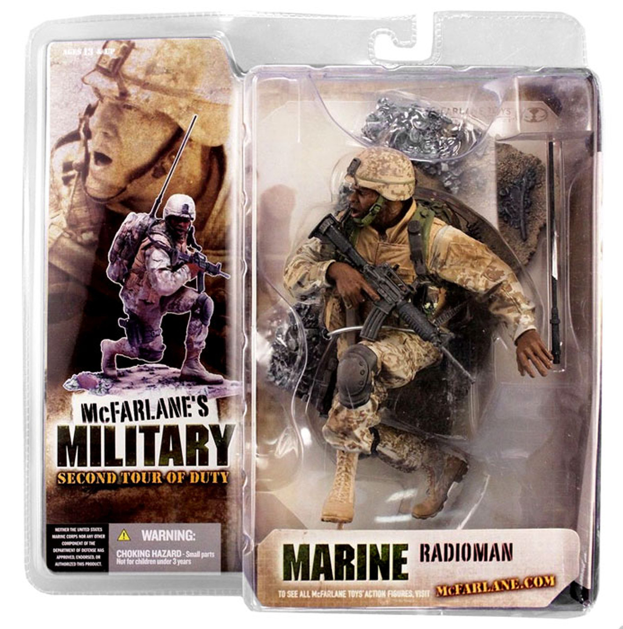 McFarlane Toys Military 2nd Tour of Duty Marine Radioman Action Figure [African American]