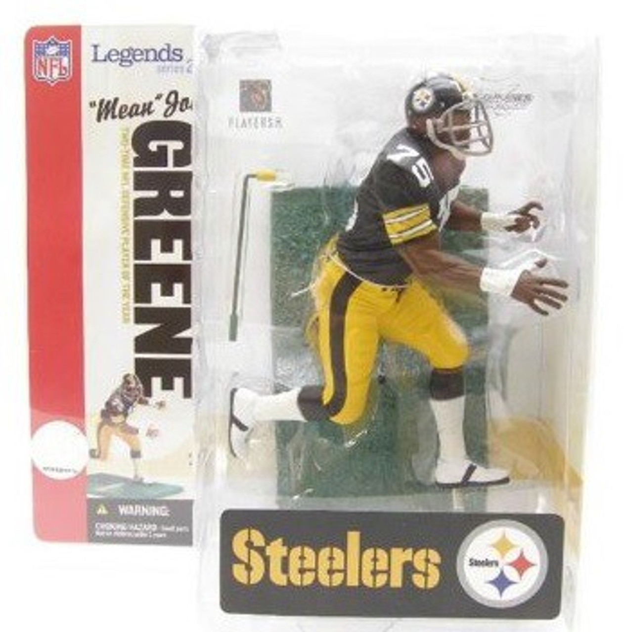"McFarlane Toys NFL Pittsburgh Steelers Sports Picks Legends Series 2 ""Mean"" Joe Greene Action Figure [Black Jersey]"