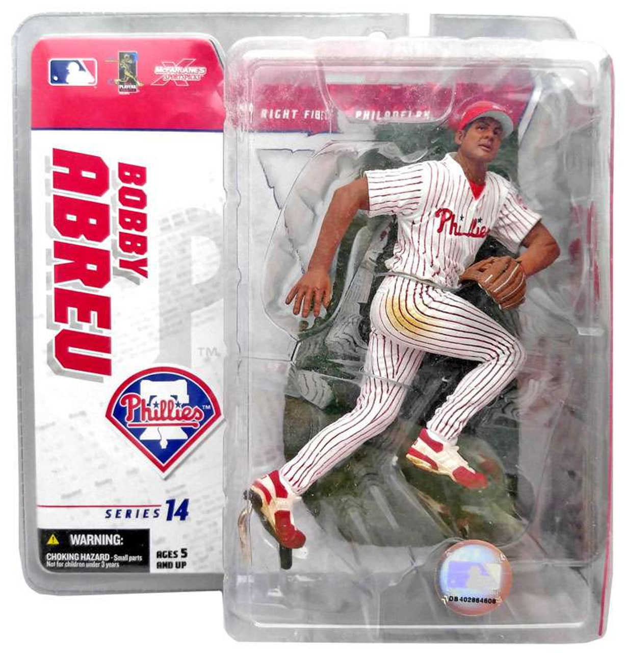 McFarlane Toys MLB Philadelphia Phillies Sports Picks Series 14 Bobby Abreu Exclusive Action Figure [White Jersey]