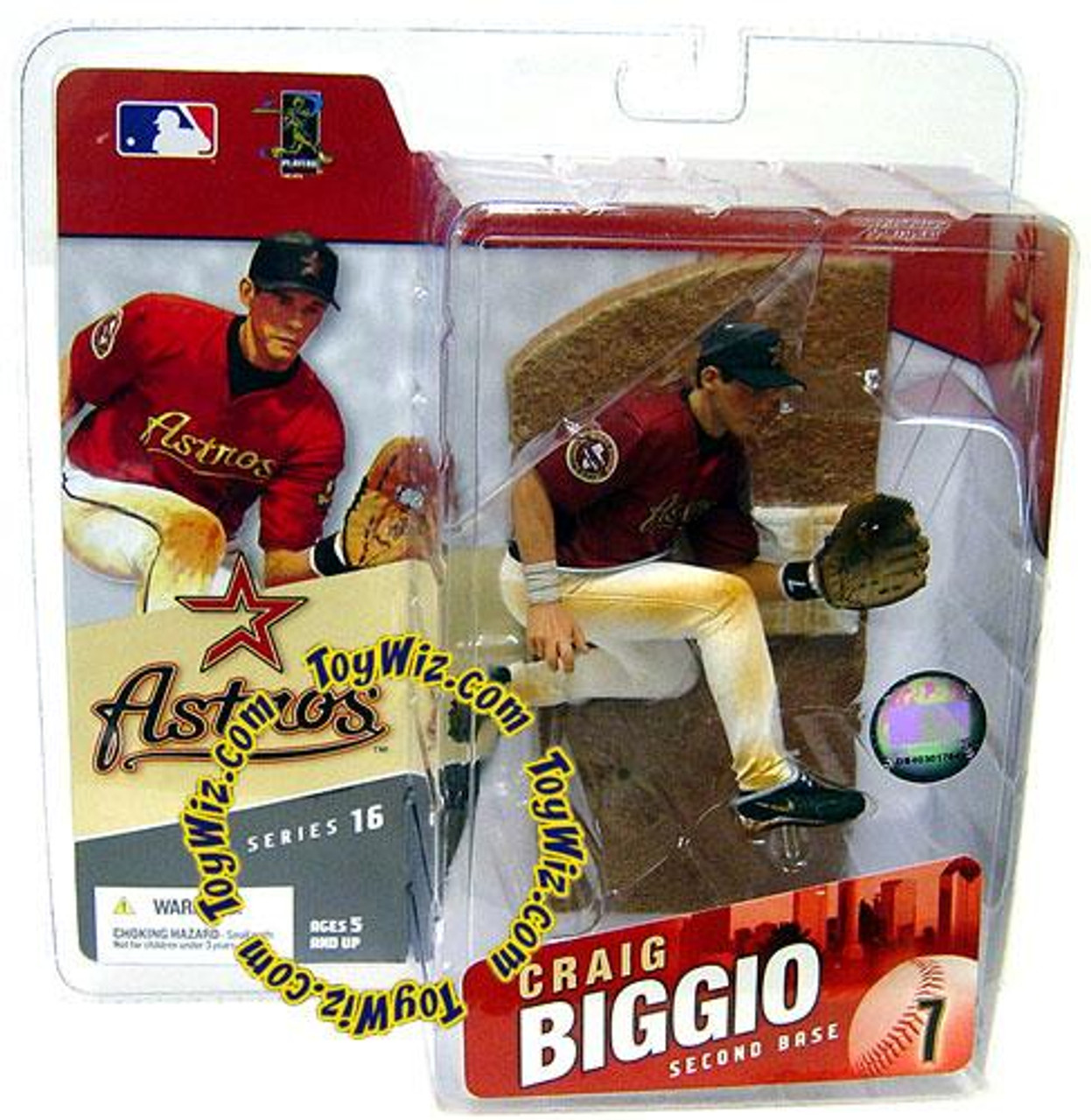 McFarlane Toys MLB Houston Astros Sports Picks Series 16 Craig Biggio Action Figure [Red Jersey]