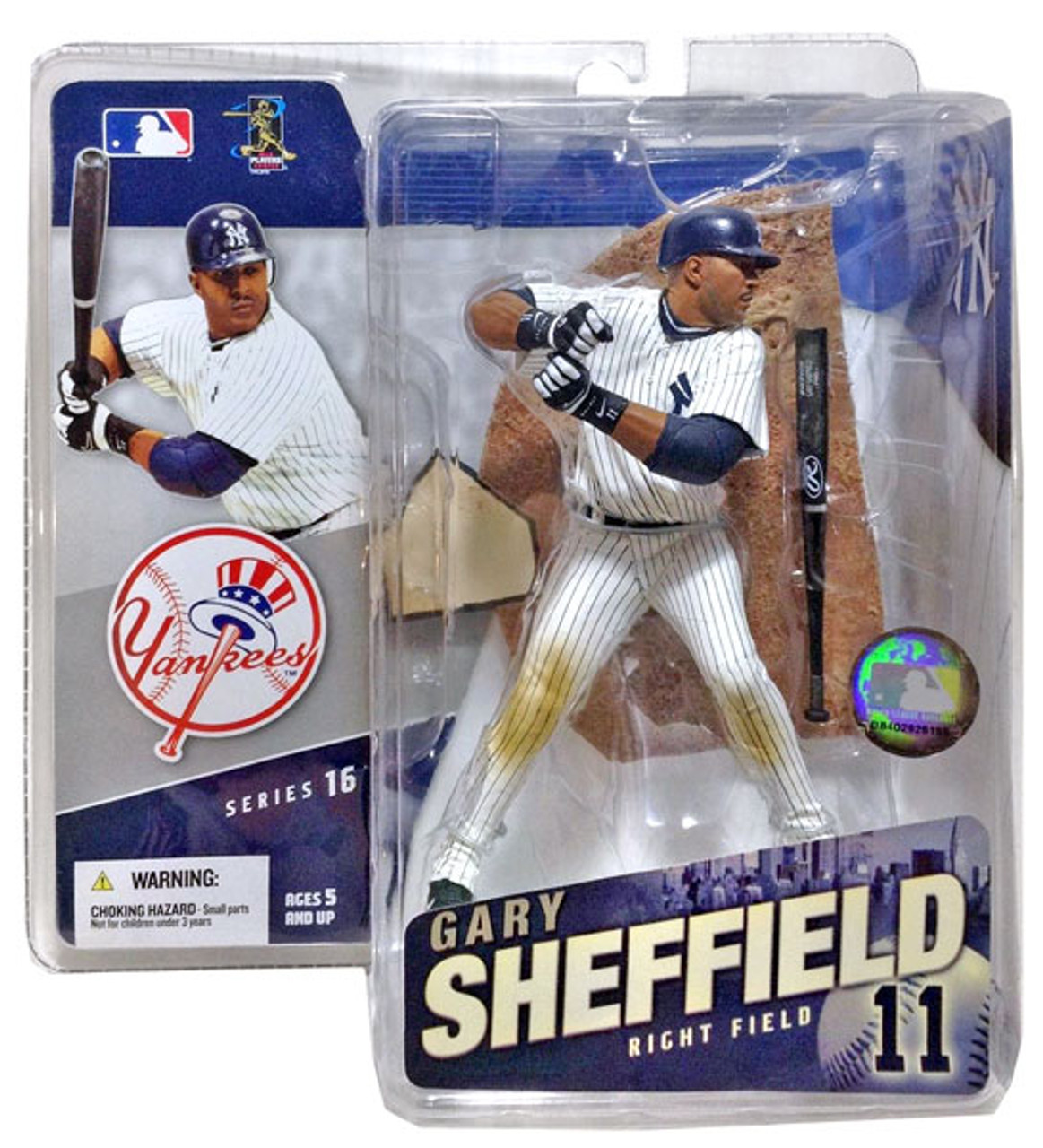 McFarlane Toys MLB New York Yankees Sports Picks Series 16 Gary Sheffield Action Figure [White Jersey]