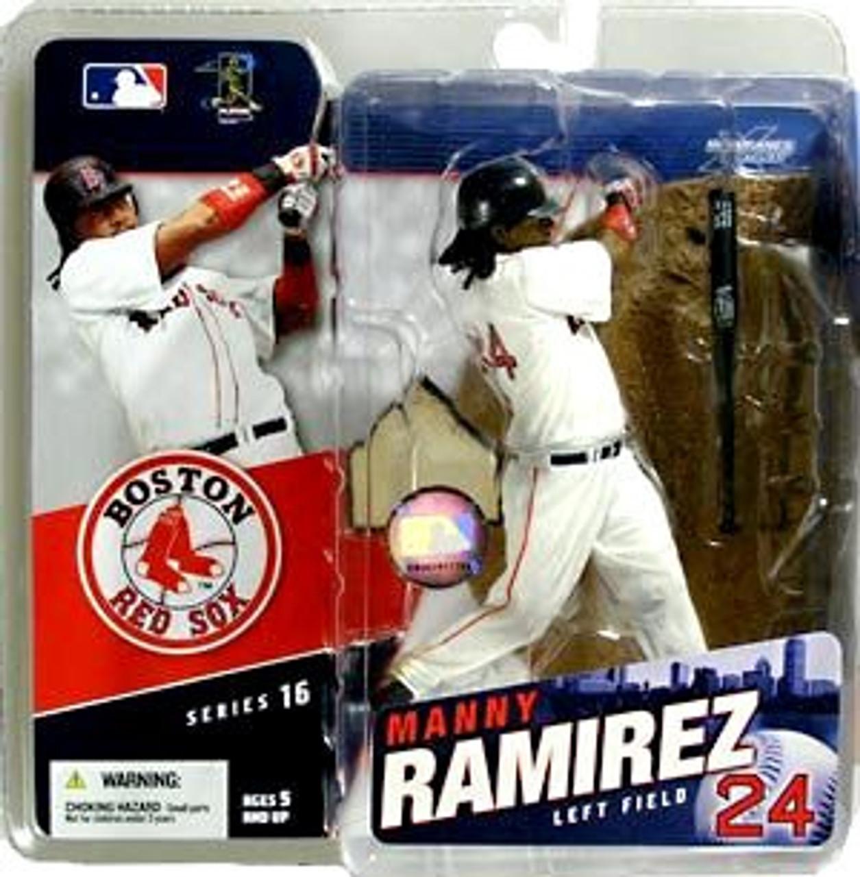 McFarlane Toys MLB Boston Red Sox Sports Picks Series 16 Manny Ramirez Action Figure [White Jersey]