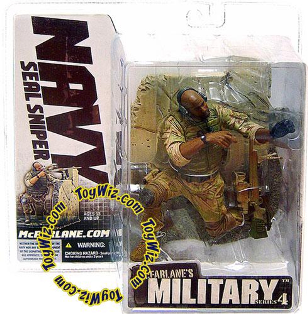 McFarlane Toys Military Series 4 Navy SEAL Sniper Action Figure [African American]