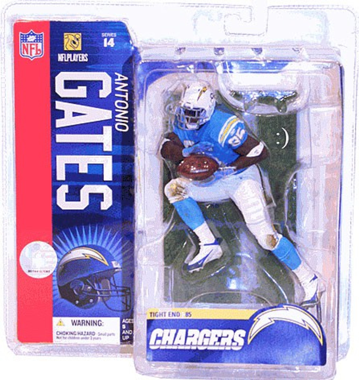 McFarlane Toys NFL San Diego Chargers Sports Picks Series 14 Antonio Gates Action Figure [Powder Blue Jersey]