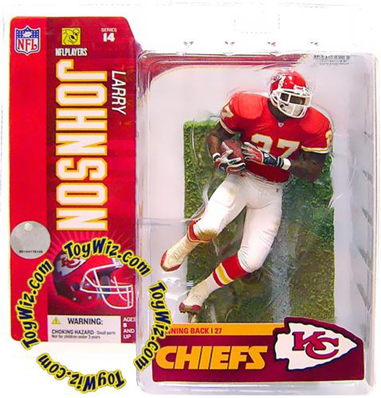 McFarlane Toys NFL Kansas City Chiefs Sports Picks Series 14 Larry Johnson Action Figure [Red Jersey]
