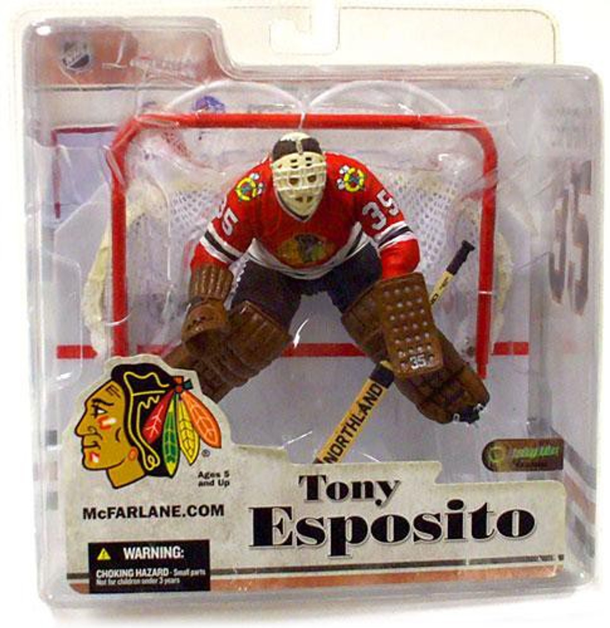 McFarlane Toys NHL Chicago Blackhawks Sports Picks Legends Series 3 Tony Esposito Action Figure