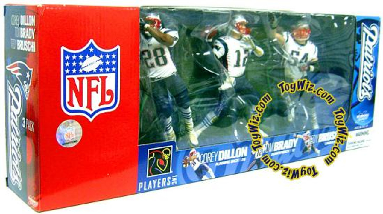 McFarlane Toys NFL New England Patriots Sports Picks Corey Dillon, Tom Brady & Tedy Bruschi Exclusive Action Figure 3-Pack