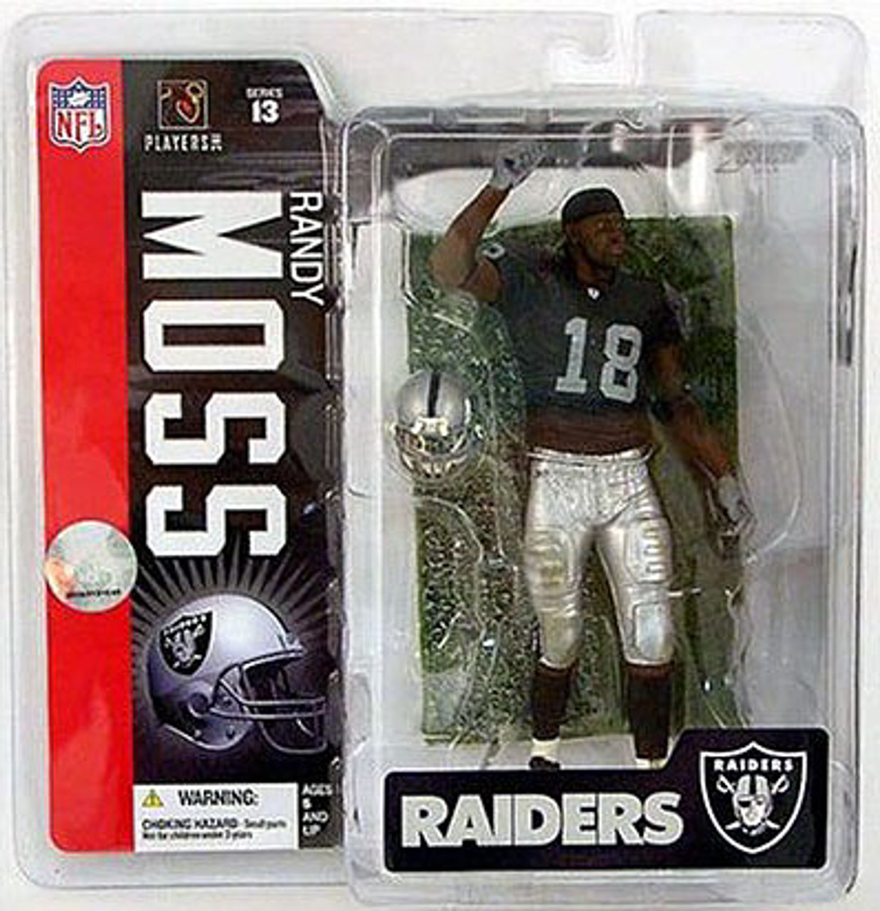 McFarlane Toys NFL Oakland Raiders Sports Picks Series 13 Randy Moss Action Figure [Black Jersey]