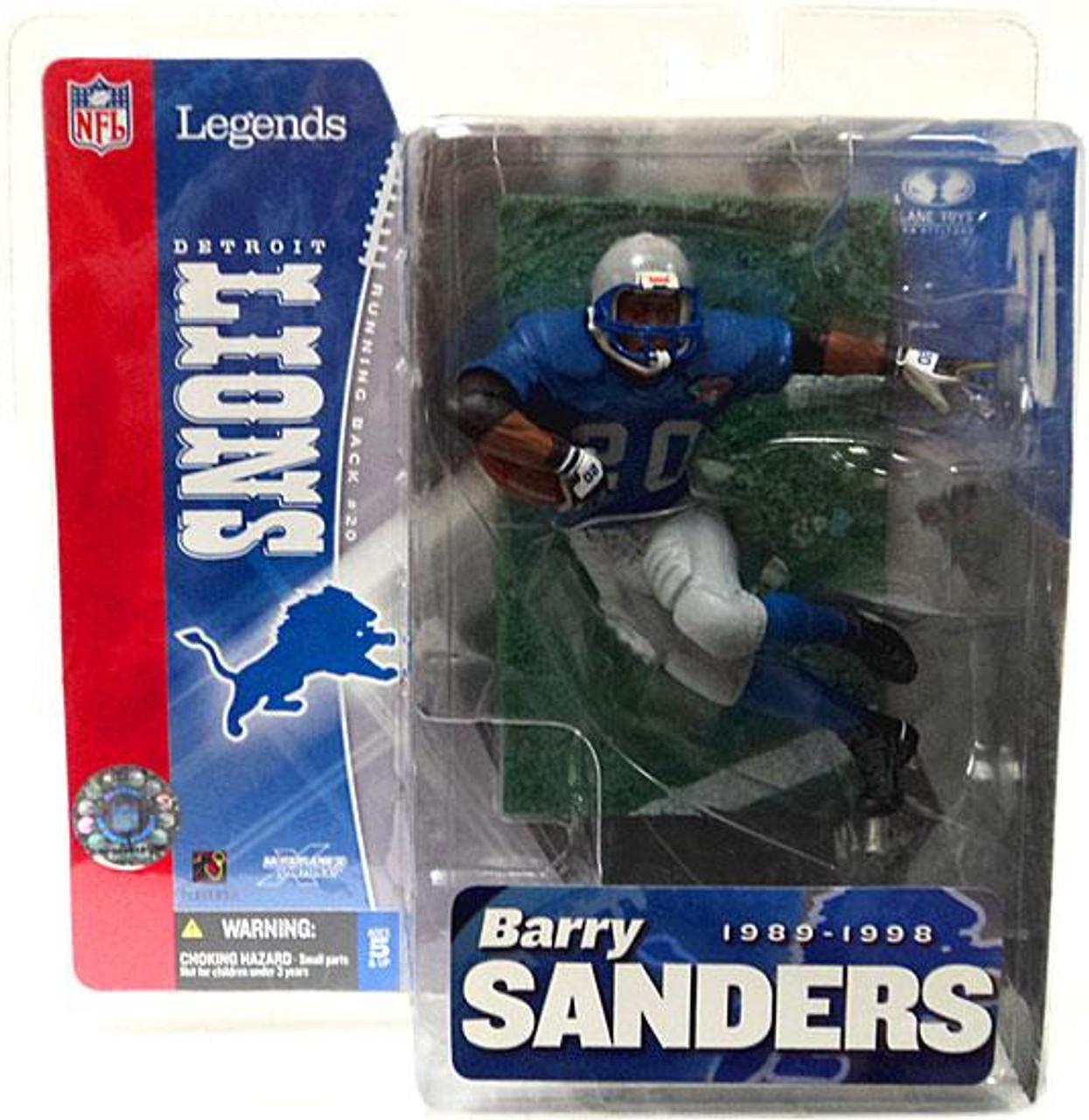 McFarlane Toys NFL Detroit Lions Sports Picks Legends Series 1 Barry Sanders Action Figure [Blue Jersey Retro Variant]