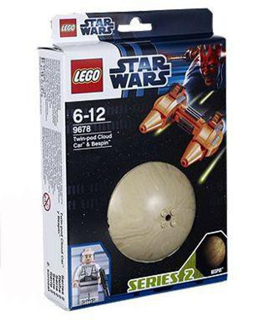 LEGO Star Wars Empire Strikes Back Planets Series 2 Twin-Pod Cloud Car & Bespin Set #9678