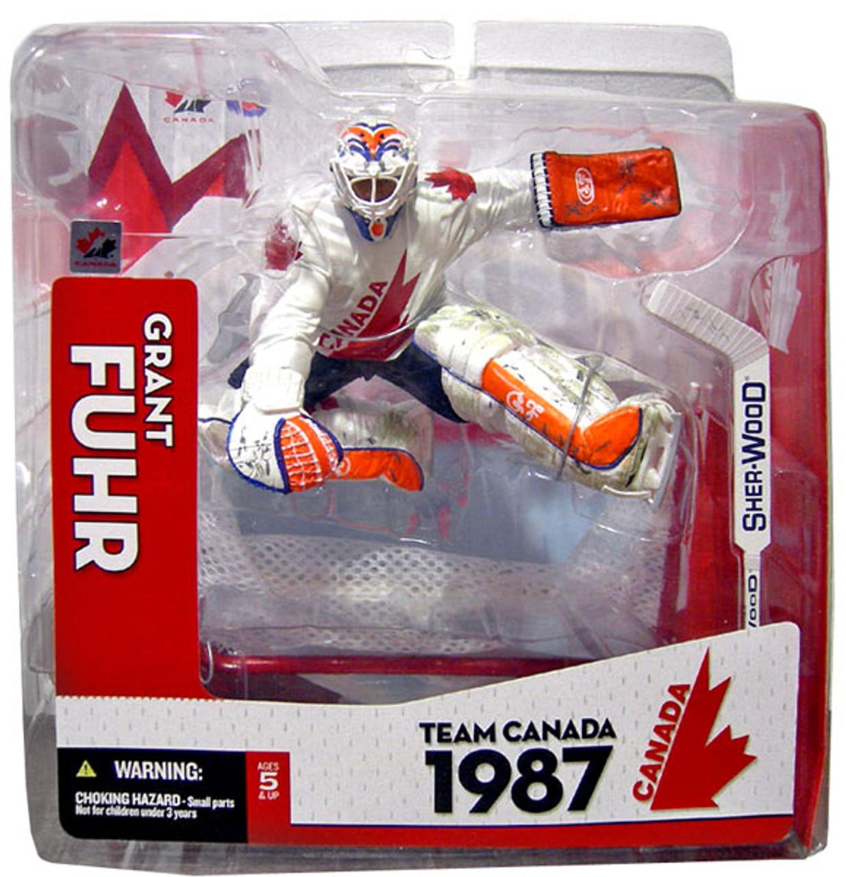 McFarlane Toys NHL Sports Picks Team Canada Grant Fuhr Action Figure