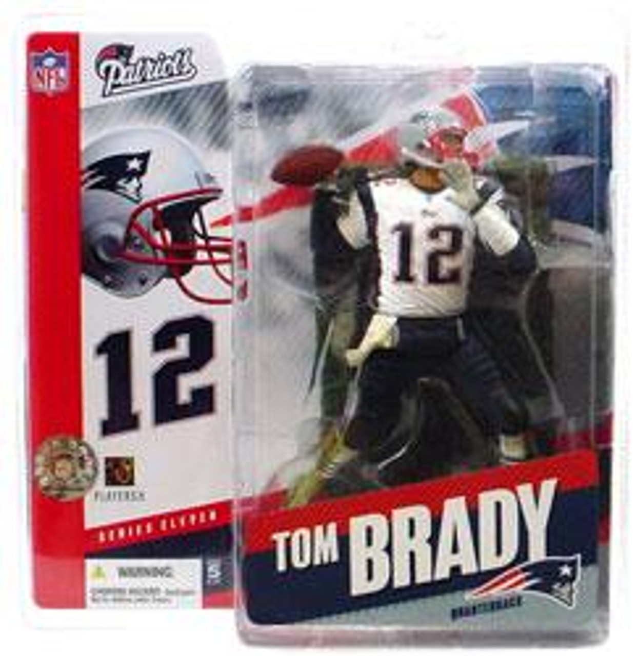 McFarlane Toys NFL New England Patriots Sports Picks Series 11 Tom Brady Action Figure [White Jersey Variant]