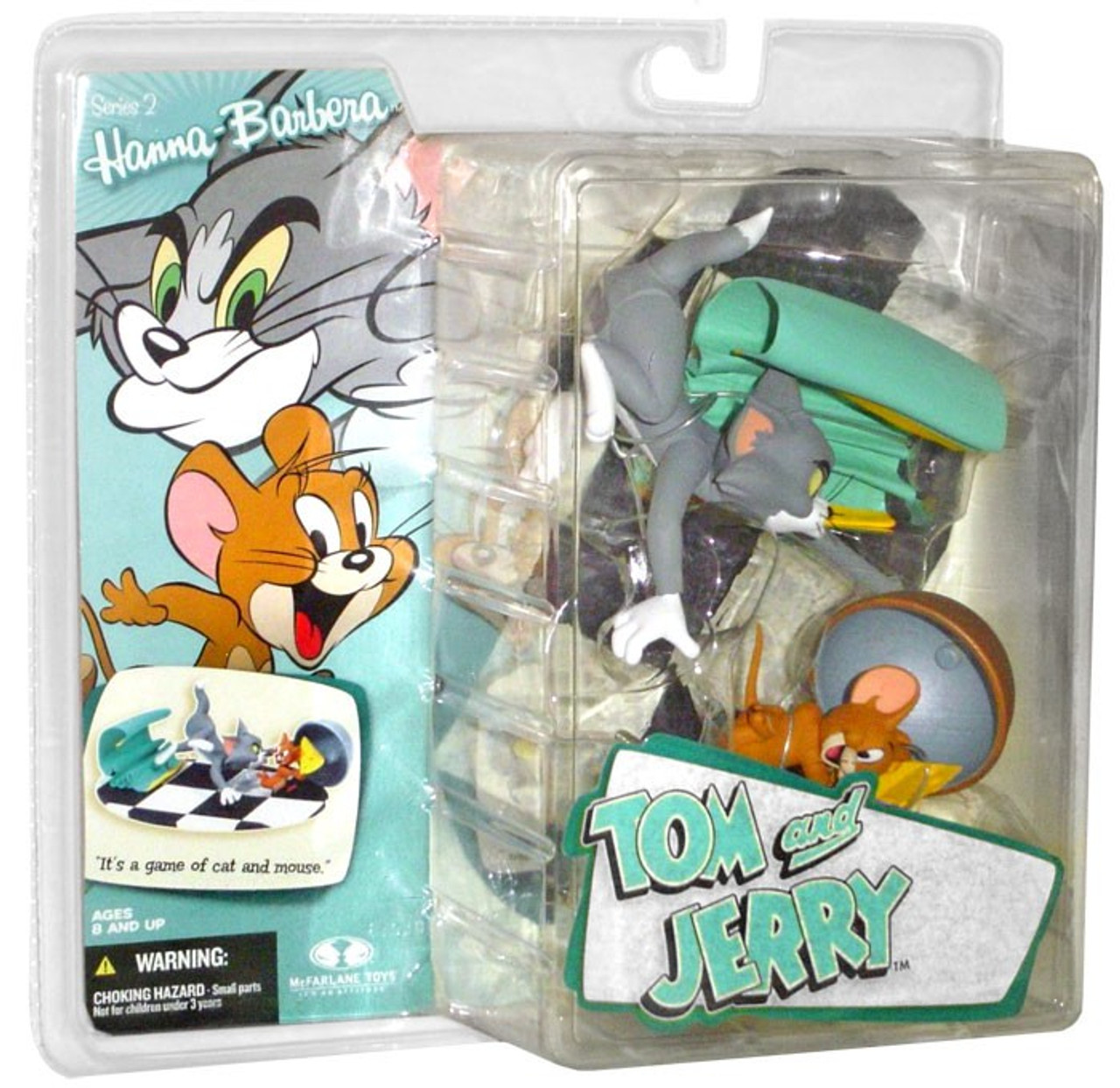 McFarlane Toys Hanna-Barbera Series 2 Tom & Jerry Action Figure 2-Pack