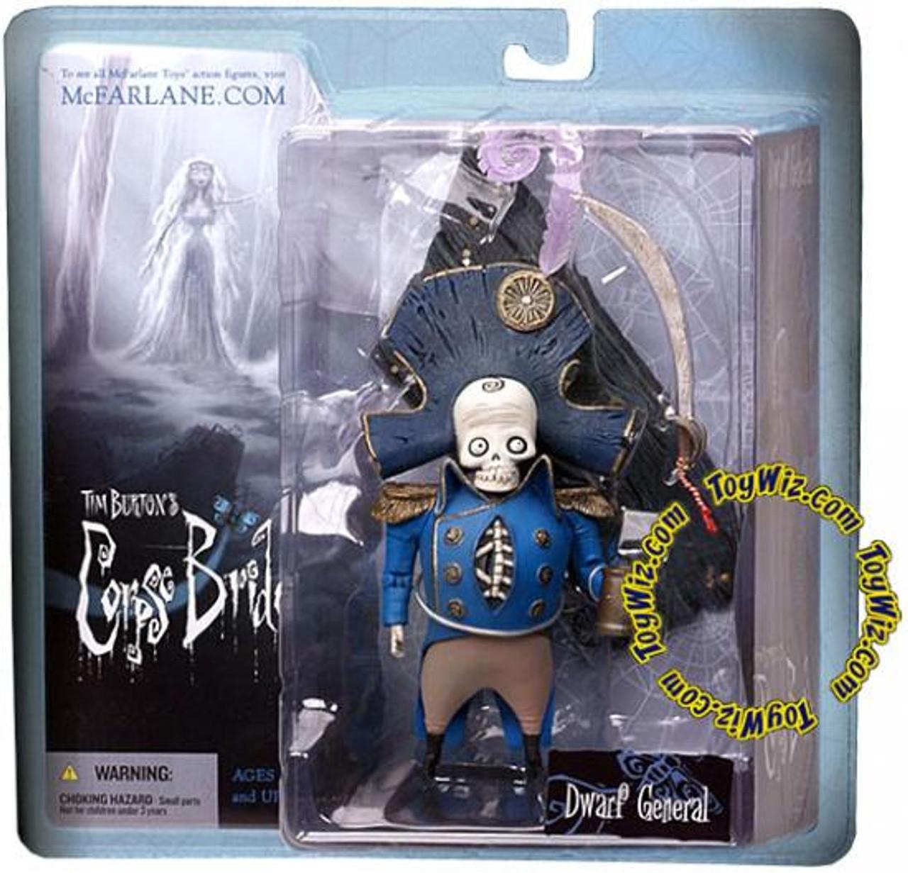 McFarlane Toys Corpse Bride Series 1 Dwarf General Bonesapart Action Figure