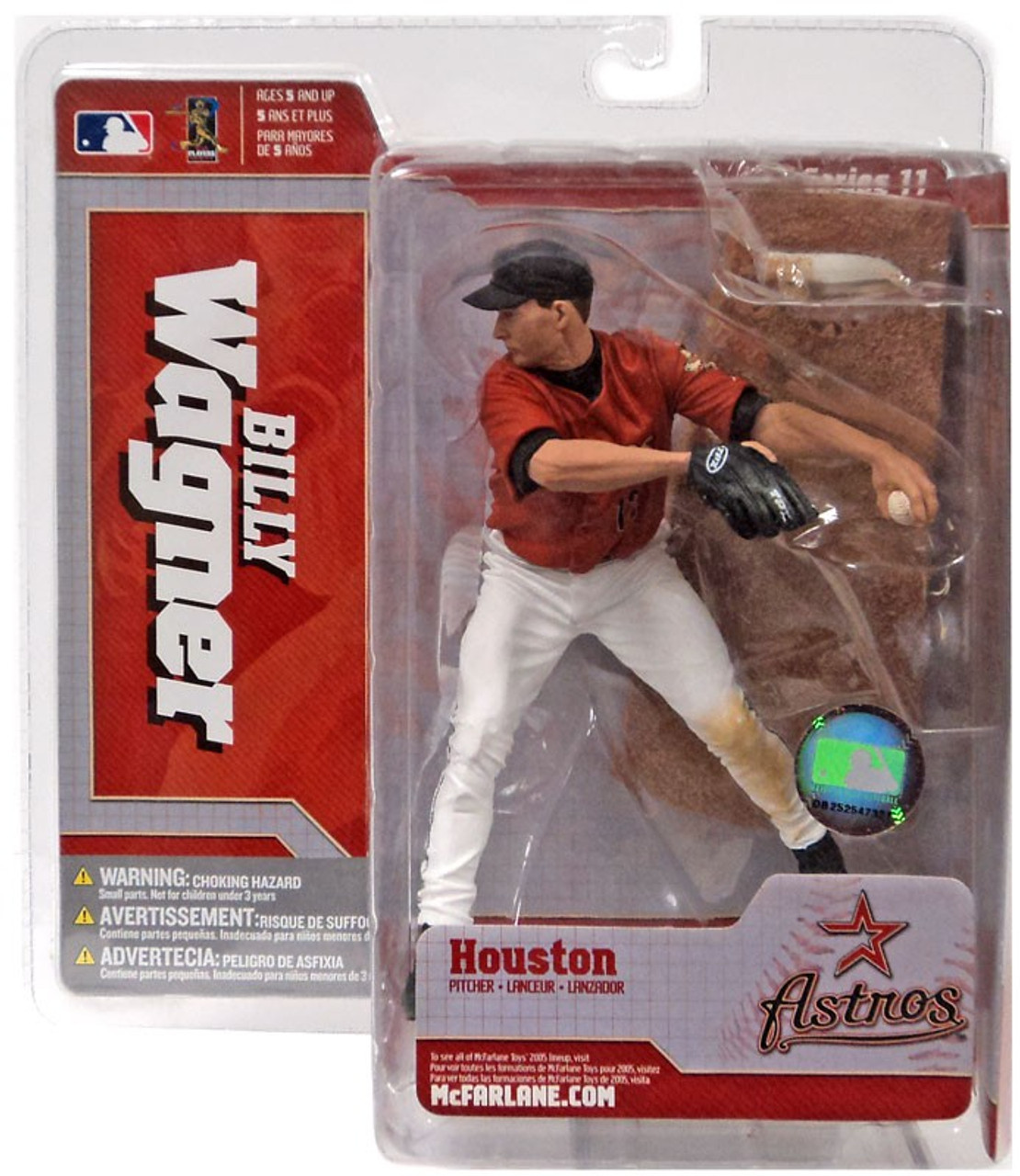 McFarlane Toys MLB Houston Astros Sports Picks Series 11 Billy Wagner Action Figure [Red Jersey Variant]