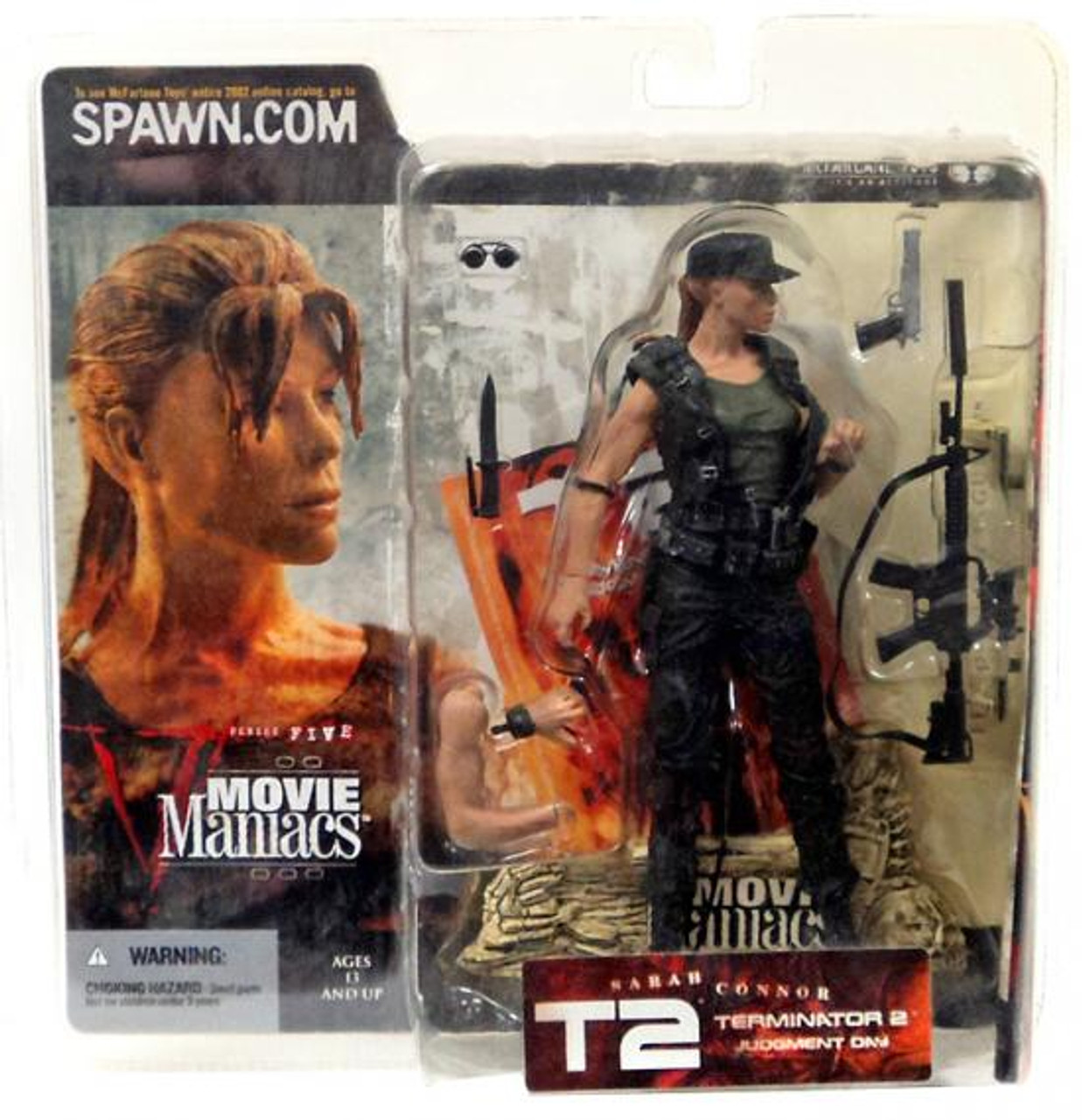McFarlane Toys Terminator 2 Judgment Day Movie Maniacs Series 5 Sarah Connor Action Figure [With Hat]