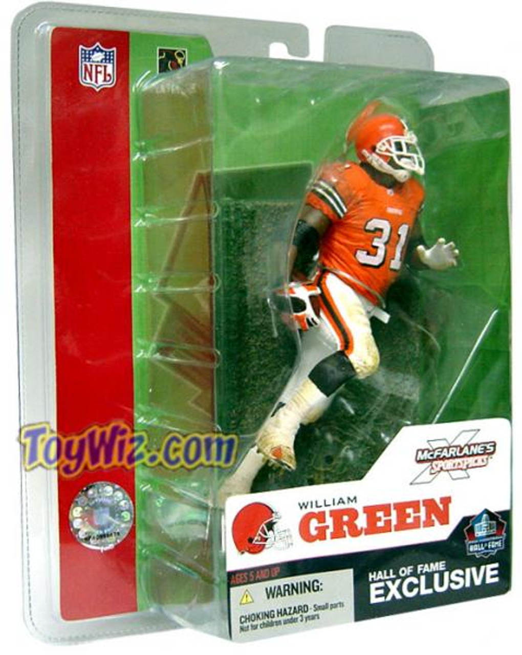 McFarlane Toys NFL Cleveland Browns Sports Picks 2003 Hall of Fame William Green Exclusive Action Figure