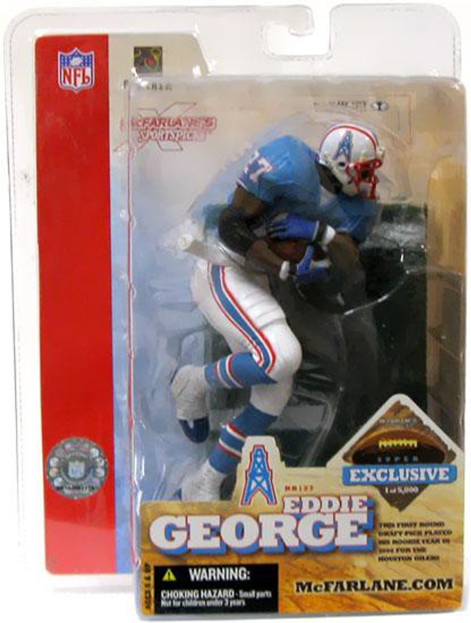 McFarlane Toys NFL Houston Oilers Sports Picks Exclusive Eddie George Exclusive Action Figure [Super Bowl XXXVIII]