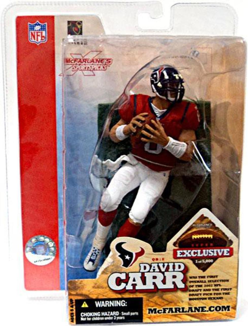 McFarlane Toys NFL Houston Texans Sports Picks Exclusive David Carr Exclusive Action Figure [Super Bowl XXXVIII]