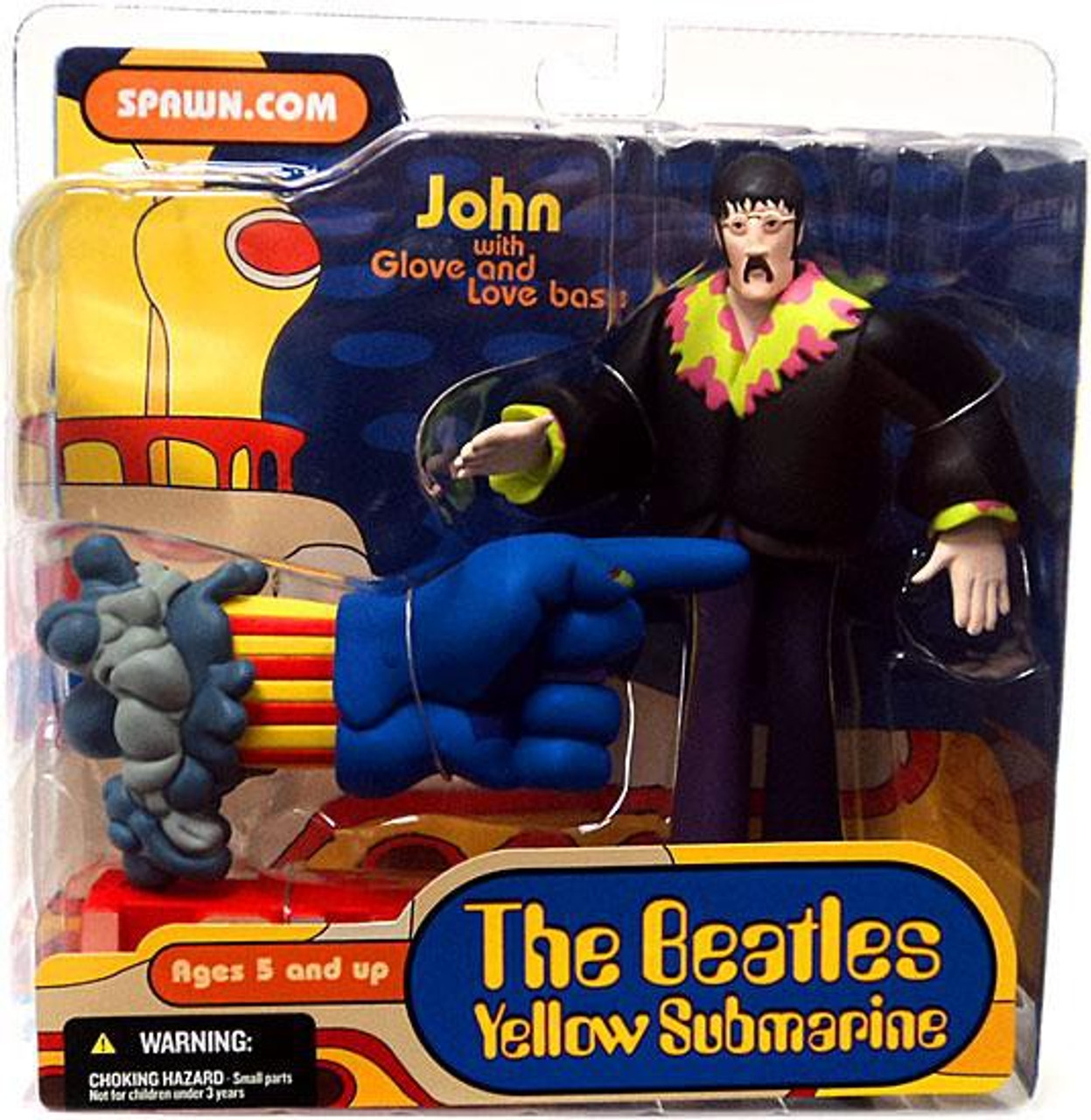 McFarlane Toys The Beatles Yellow Submarine John with Glove & Love Base Action Figure