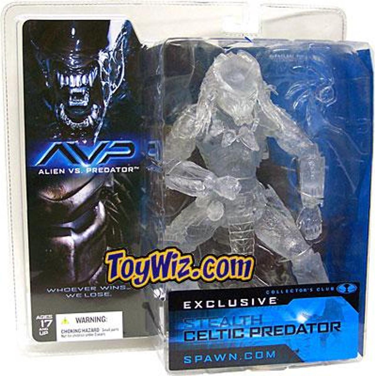 McFarlane Toys Alien vs Predator Collector's Club Stealth Celtic Predator Exclusive Action Figure
