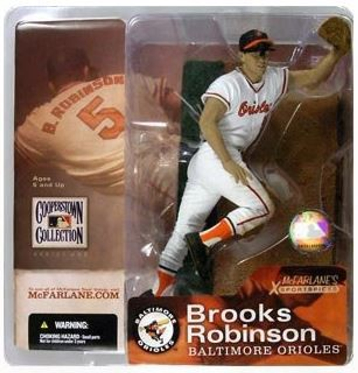 McFarlane Toys MLB Cooperstown Collection Series 1 Brooks Robinson Action Figure [White Jersey]