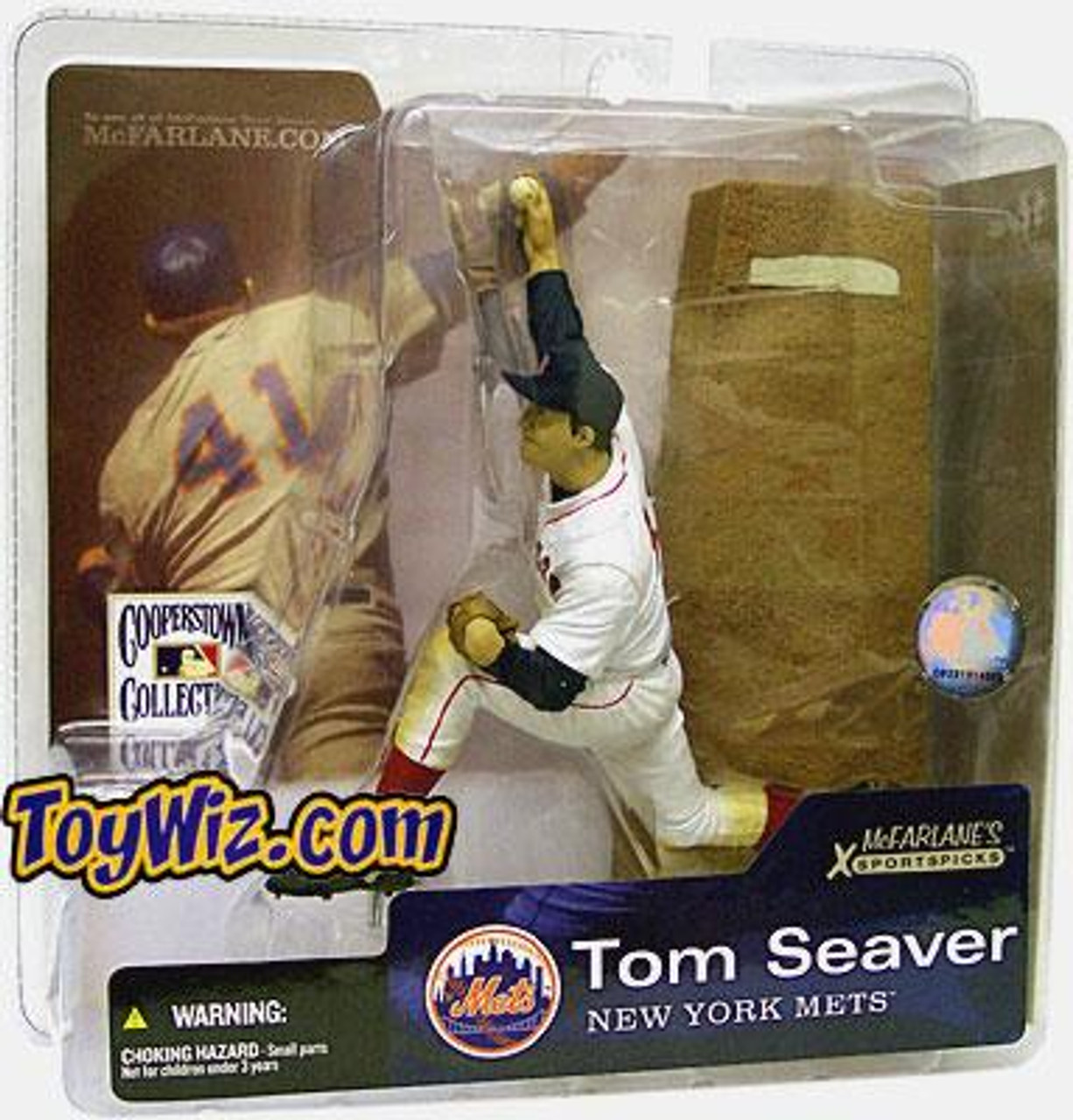 McFarlane Toys MLB Cooperstown Collection Series 1 Tom Seaver Action Figure [Red Sox Uniform]