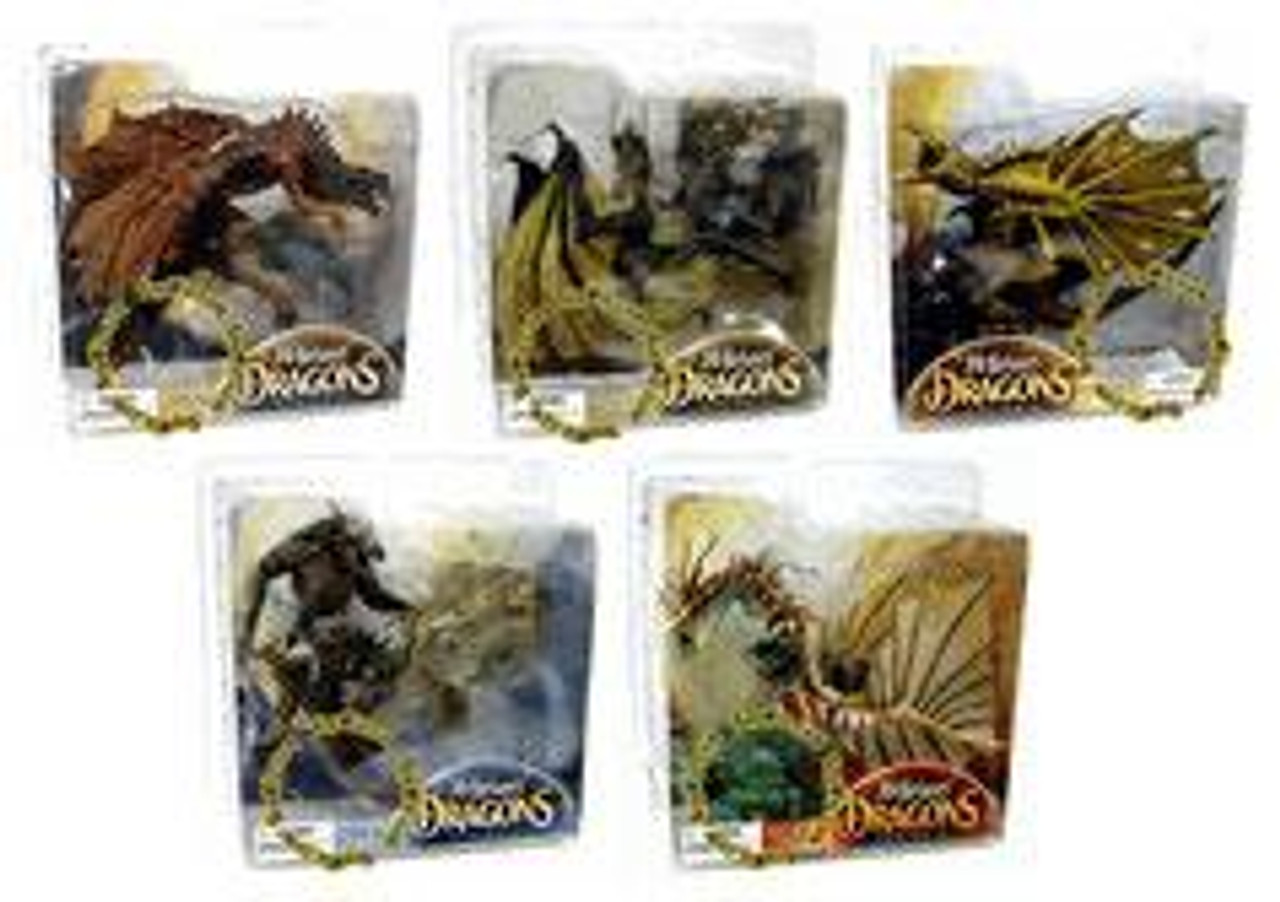McFarlane Toys Quest for the Lost King McFarlane's Dragons Series 3 Set of 5 Action Figures