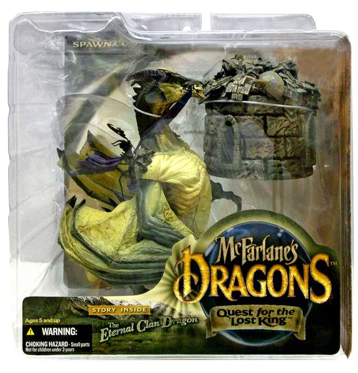 McFarlane Toys Dragons Quest for the Lost King Series 1 The Eternal Clan Dragon Action Figure