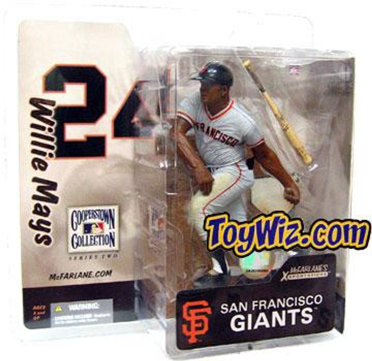 McFarlane Toys MLB Cooperstown Collection Series 2 Willie Mays Action Figure [Giants Uniform]