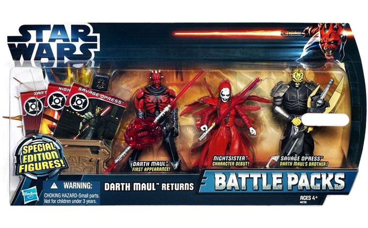 Star Wars The Clone Wars Battle Packs 2012 Darth Maul Returns Exclusive Action Figure Set