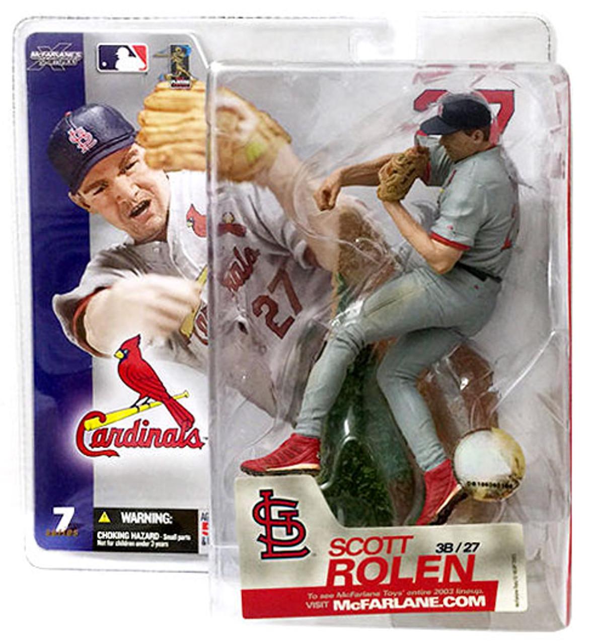 McFarlane Toys MLB St. Louis Cardinals Sports Picks Series 7 Scott Rolen Action Figure [Gray Jersey]