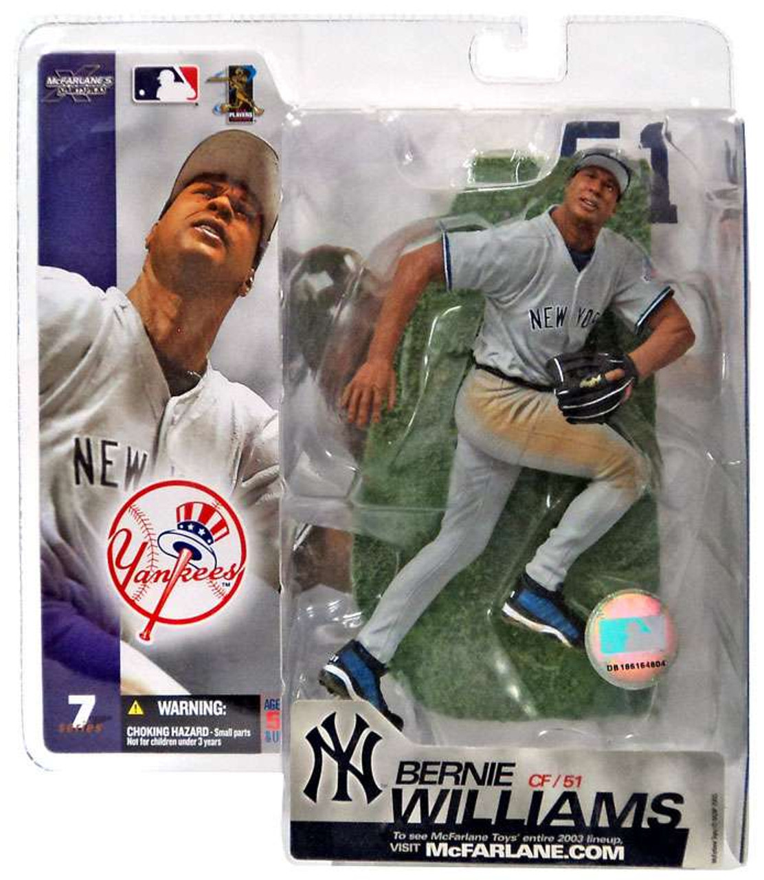 McFarlane Toys MLB New York Yankees Sports Picks Series 7 Bernie Williams Action Figure [Gray Jersey]
