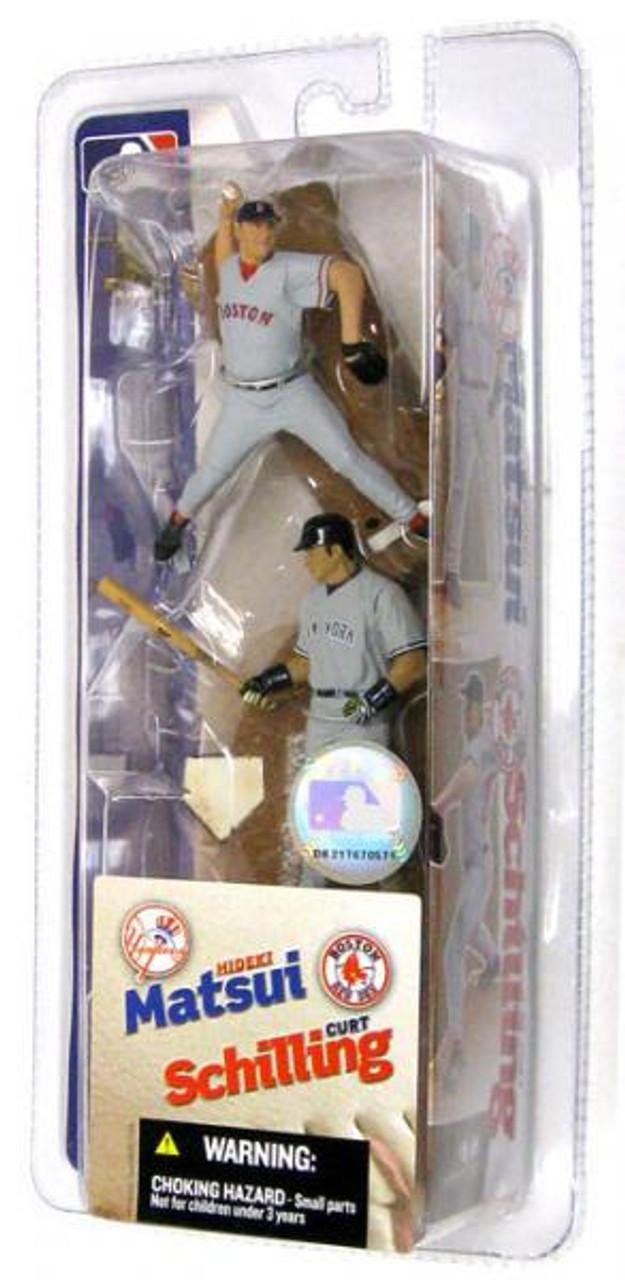 McFarlane Toys MLB New York Yankees / Boston Red Sox Sports Picks 3 Inch Mini Series 2 Hideki Matsui & Curt Schilling Mini Figure 2-Pack