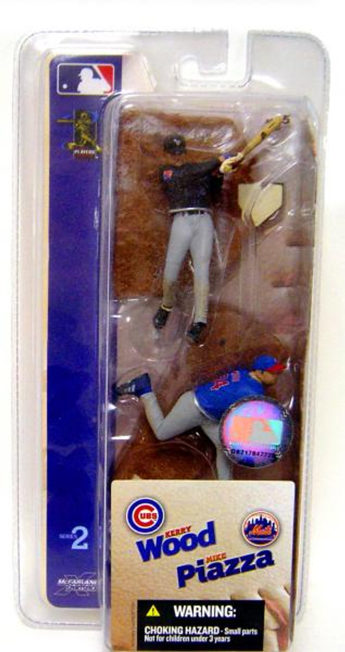 McFarlane Toys MLB Chicago Cubs / New York Mets Sports Picks 3 Inch Mini Series 2 Kerry Wood & Mike Piazza Mini Figure 2-Pack