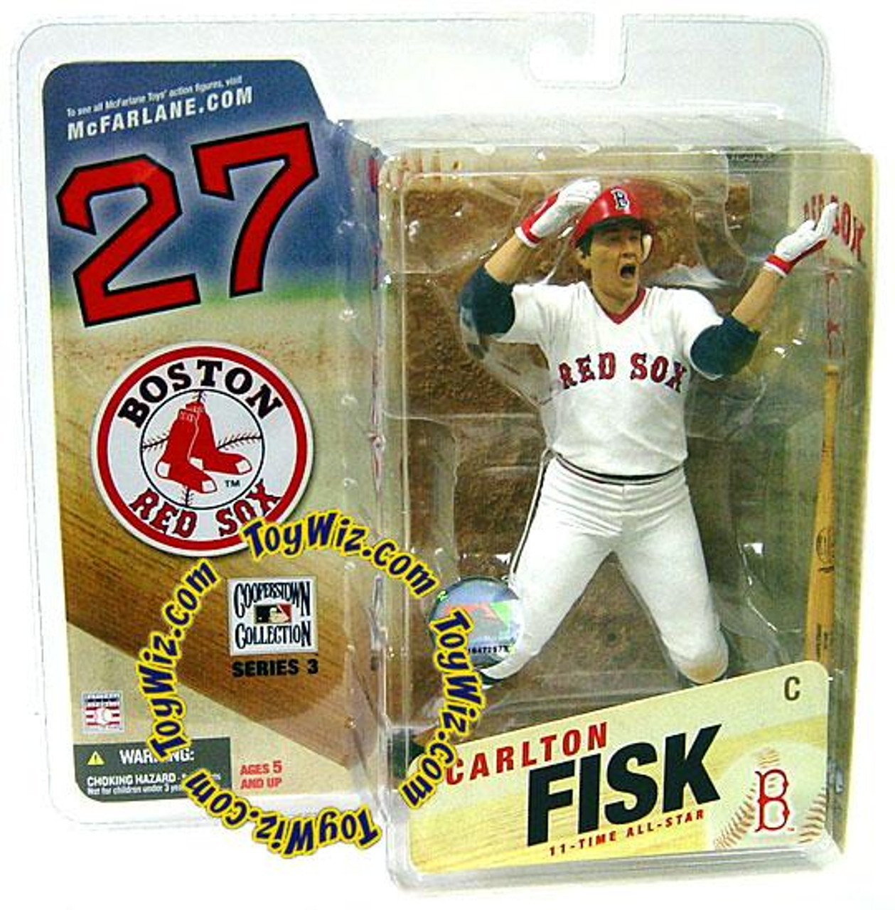 McFarlane Toys MLB Cooperstown Collection Series 3 Carlton Fisk Action Figure