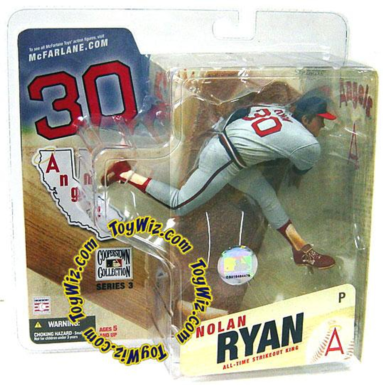 McFarlane Toys MLB Cooperstown Collection Series 3 Nolan Ryan Action Figure [Angels Uniform]