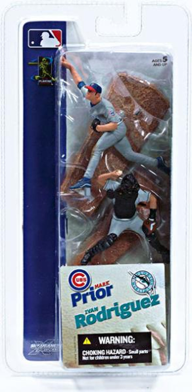 McFarlane Toys MLB Chicago Cubs / Florida Marlins Sports Picks 3 Inch Mini Series 1 Mark Prior & Ivan Rodriguez Mini Figure 2-Pack