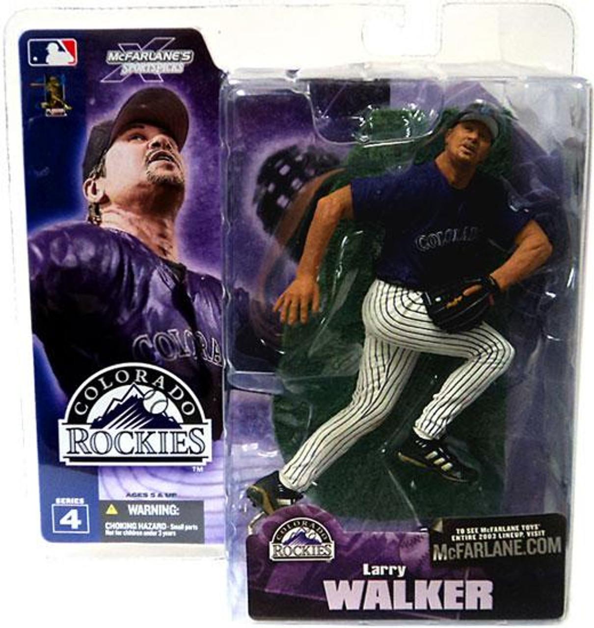 McFarlane Toys MLB Colorado Rockies Sports Picks Series 4 Larry Walker Action Figure [Purple Jersey]