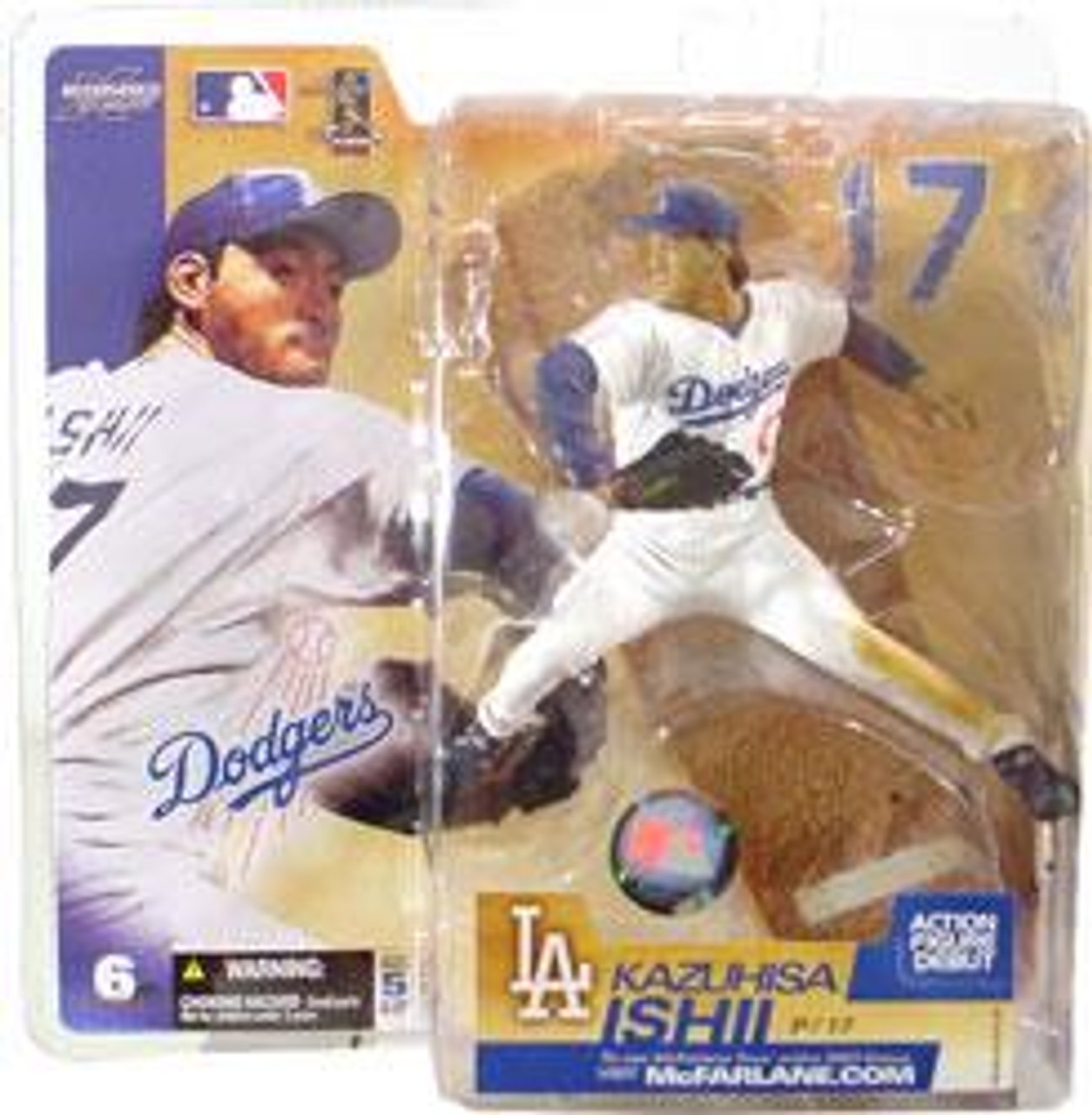 McFarlane Toys MLB Los Angeles Dodgers Sports Picks Series 6 Kazuhisa Ishii Action Figure [White Jersey]
