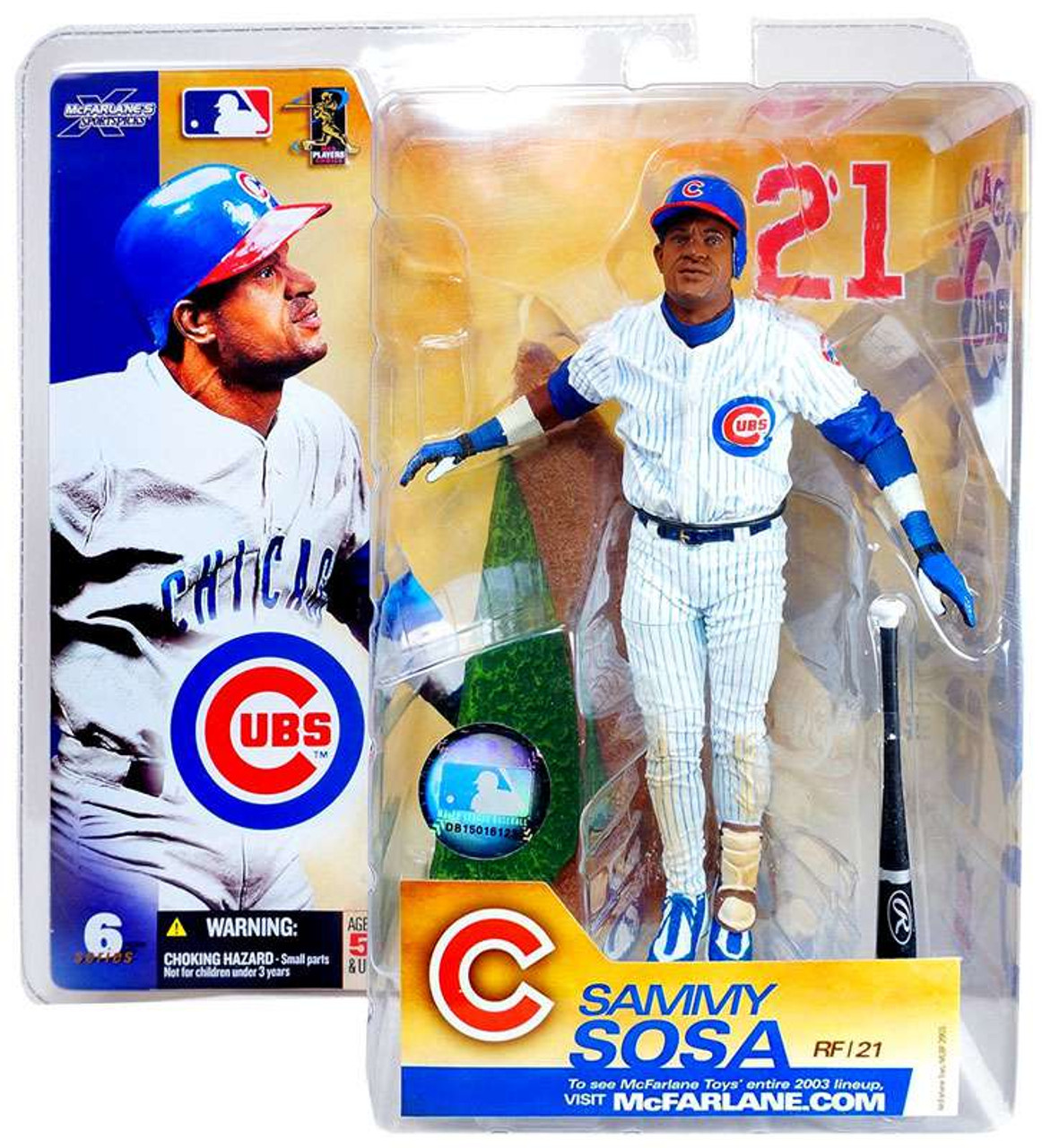 McFarlane Toys MLB Chicago Cubs Sports Picks Series 6 Sammy Sosa Action Figure [White Jersey Variant]