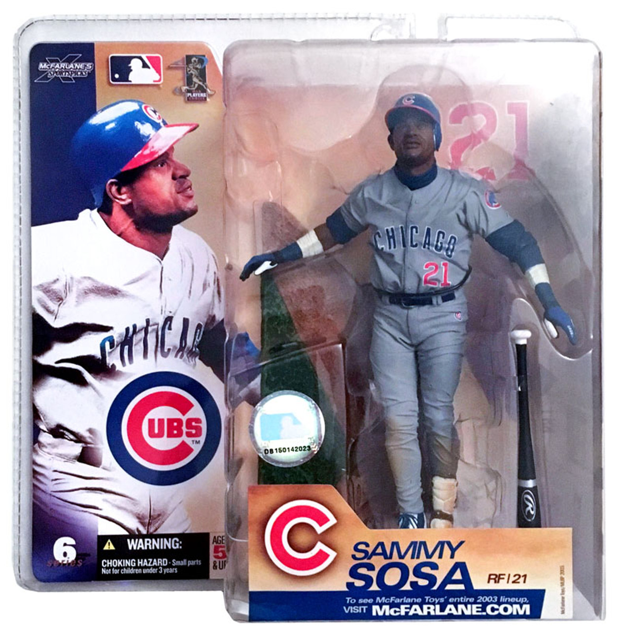 McFarlane Toys MLB Chicago Cubs Sports Picks Series 6 Sammy Sosa Action Figure [Gray Jersey]