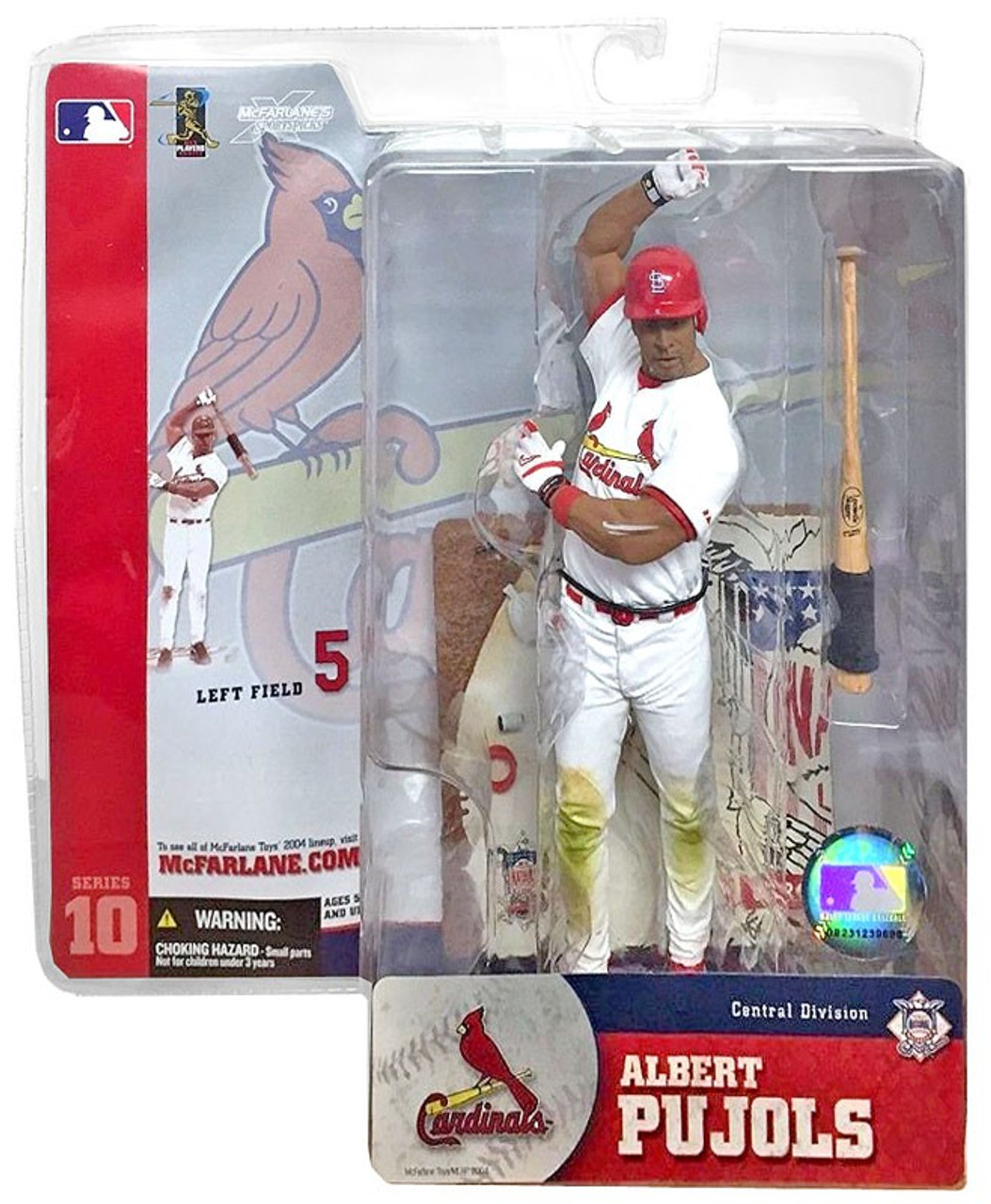 McFarlane Toys MLB St. Louis Cardinals Sports Picks Series 10 Albert Pujols Action Figure [White Jersey]