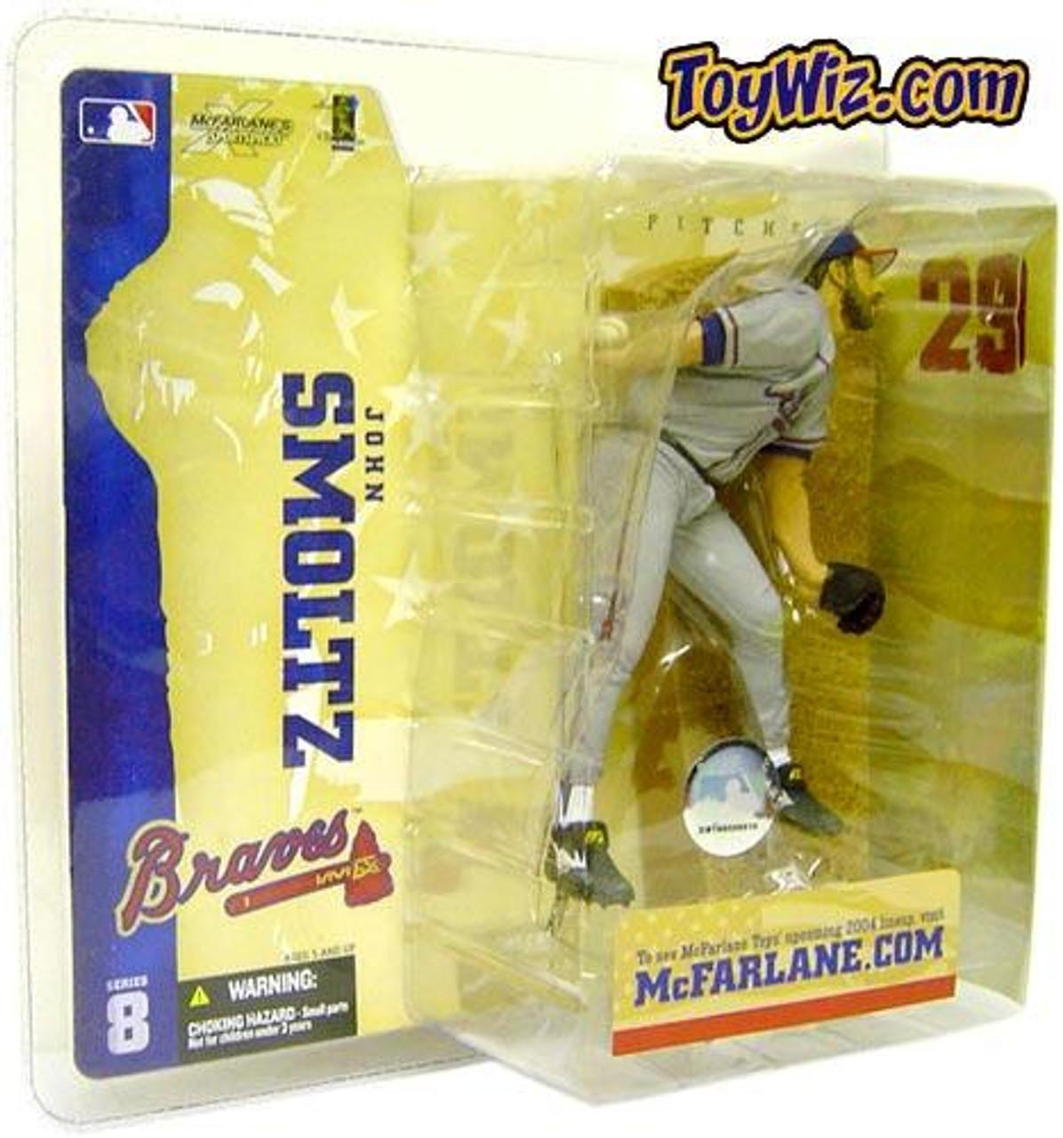 McFarlane Toys MLB Atlanta Braves Sports Picks Series 8 John Smoltz Action Figure [Gray Jersey]
