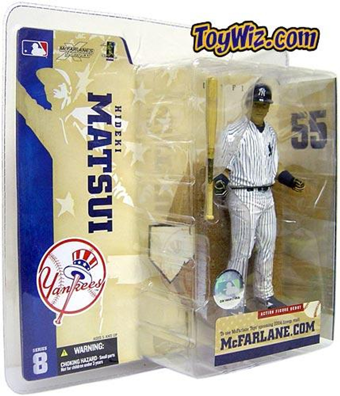 McFarlane Toys MLB New York Yankees Sports Picks Series 8 Hideki Matsui Action Figure [Pinstripe Jersey Variant]
