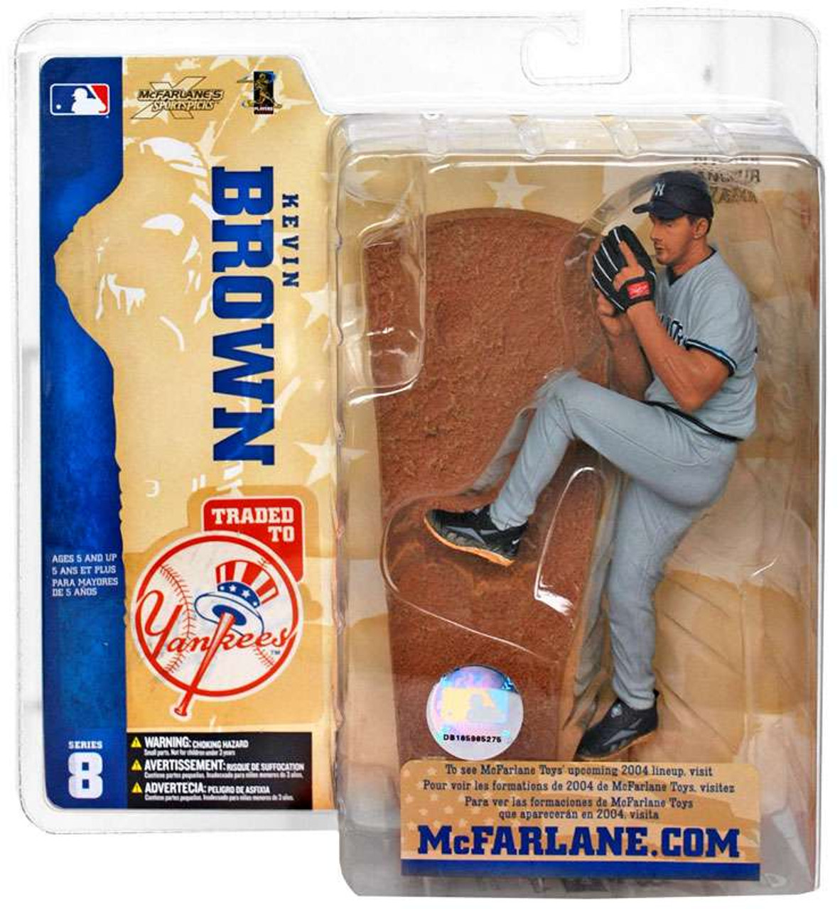 McFarlane Toys MLB New York Yankees Sports Picks Series 8 Kevin Brown Action Figure [Yankees Variant]