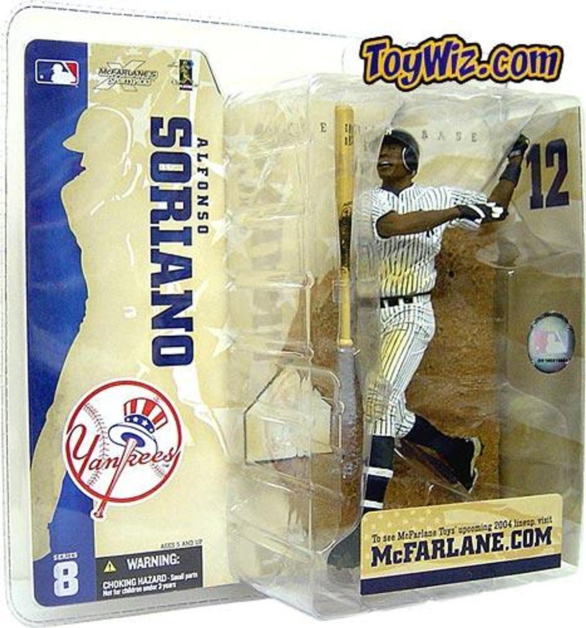 McFarlane Toys MLB New York Yankees Sports Picks Series 8 Alfonso Soriano Action Figure [Pinstripe Jersey Variant]