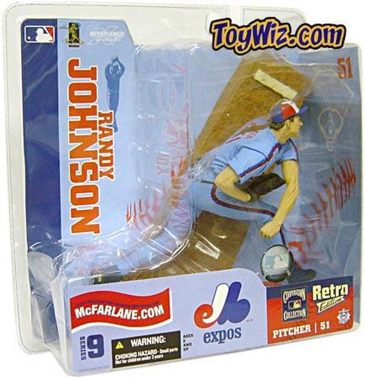 McFarlane Toys MLB Montreal Expos Sports Picks Series 9 Randy Johnson Action Figure [Blue Retro Jersey Variant]