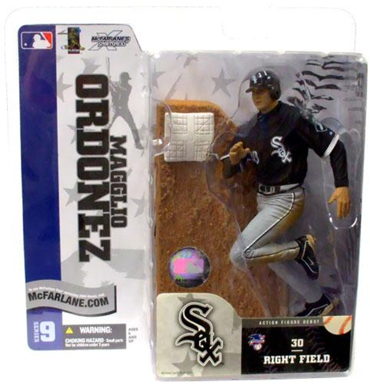 McFarlane Toys MLB Chicago White Sox Sports Picks Series 9 Magglio Ordonez Action Figure [Black Jersey Variant]